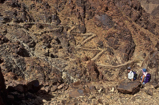 Auf dem Weg zu Djebel - Catherin, mit 2642 m Ägyptens höchster Berg.