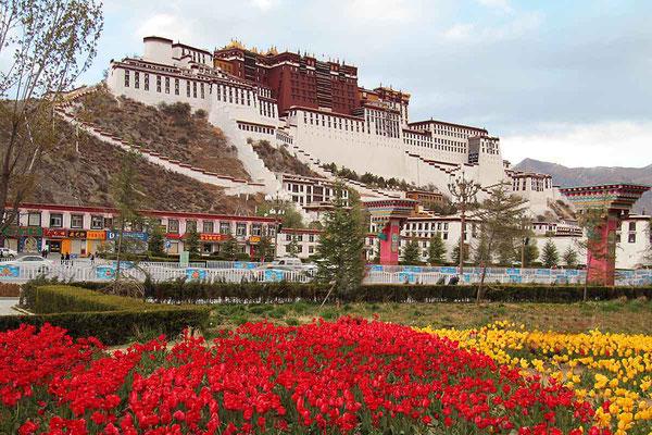 Der gewaltige Potala - Palast von Lhasa.
