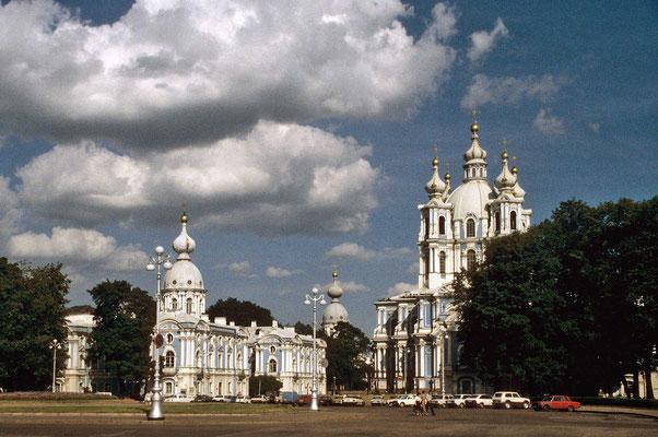 Das Smolny-Kloster zählt zu den herausragenden Baudenkmälern der Stadt.