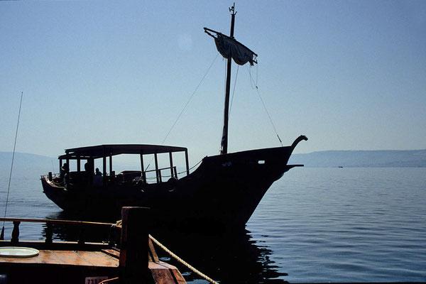 Fischerboot auf dem See Genesareth.