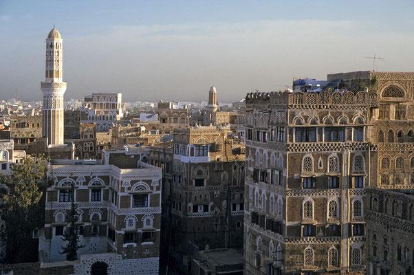 Blick auf die Hauptstadt Saná.