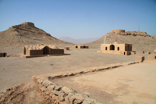 """Die """"Türme des Schweigens"""" bei Yazd wurden in der zoroastrischen Zeit für Bestattungsrituale genutzt."""