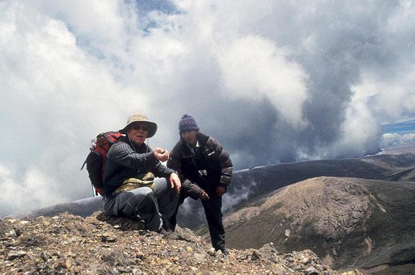 Unterwegs im Gebiet des Chimborazo.