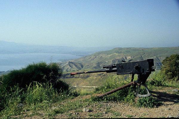 Ehemalige Geschützstellung der Syrer auf den Golanhöhen.