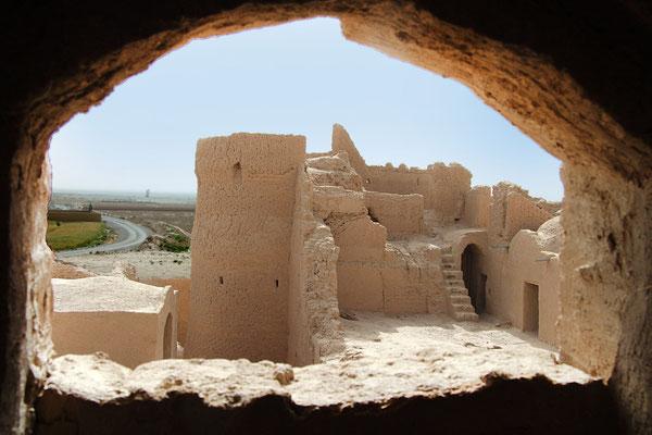 Die große Burganlage von Saryazd, erstellt in Lehmbauweise diente sie den Menschen früher als sicherer Wohnplatz.