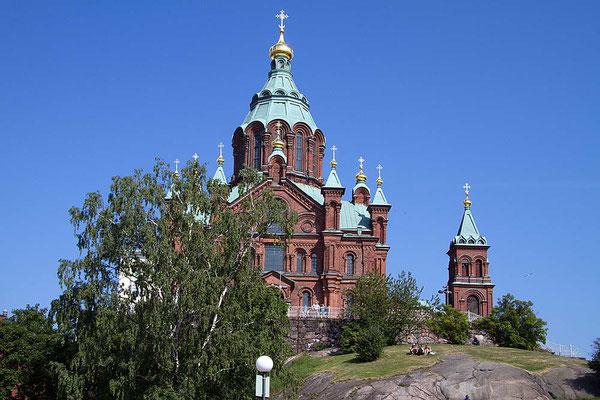 Die Uspenski- Kathedrale in Helsinki ist der größte orthodoxe Sakralbau der westlichen Welt.