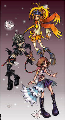 YRP. Karakters uit Kingdom Hearts 2. Paintshop Pro.