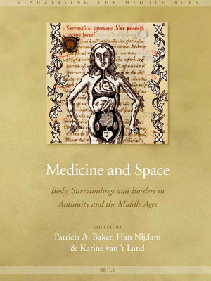 Cover Medicine and Space. Middeleeuwse anatomie. Paintshop pro.