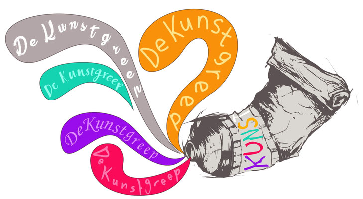 Logo van kunstwinkel 'De Kunstgreep'.