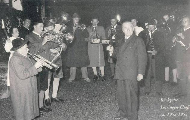 Rückgabe Lothringen-Elsaß ca. 1952-1953