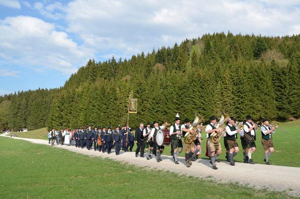 Bergmesse an der St. Georgs-Kapelle Bauer in der Au 2014