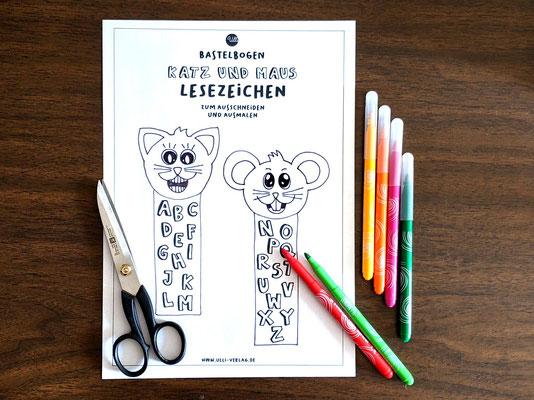 Druckvorlage Lesezeichen für Kinder
