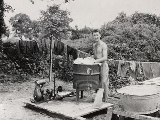 Washing facilities 436 Sqn. - Waschgelegenheit 436. Staffel