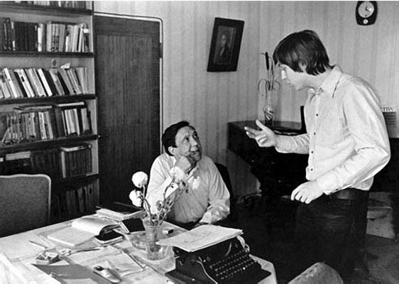 Ю. Никулин с сыном. Фотограф - Лев Шерстенников