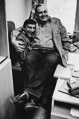 Эльдар Рязанов и Геннадий Хазанов, 1989 год. Фотограф - Лев Шерстенников