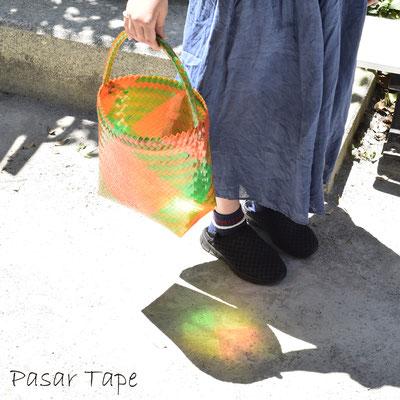 クリアのバッグは光が当たると綺麗(4反)