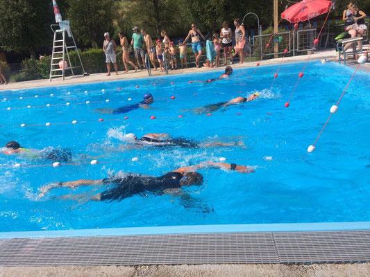 Schwimmsplit Triathlon St.Imer