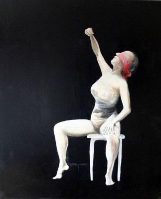 Christine, o.J., Mischtechnik/Leinwand, ca. 150 x 100 cm