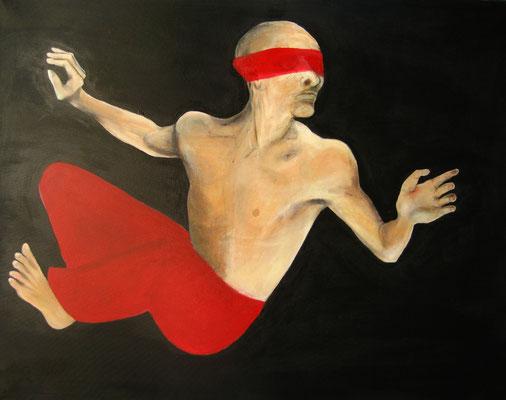 Schwebend, o.J., Öl/Leinwand, ca. 100 x 150 cm