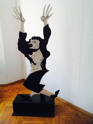 Kobold,2016, Holz bemalt, ca. 200 cm hoch