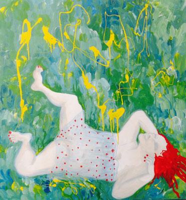Gewalt der Natur, 2016, Mischtechnik/ Leinwand, 120 x 110 cm