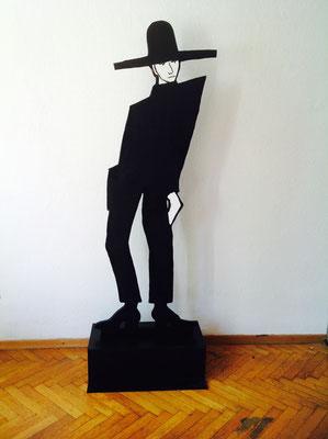 Juan,2016, Holz bemalt,  ca. 200 cm hoch