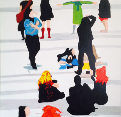 Piazza, 2014, Acryl/Leinwand, 80 x 80 cm
