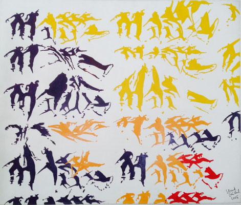 Motion, 2003, 100 x 140 cm, Acryl/Leinwand
