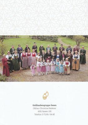 Flyer 40 Jahre Goldhaubengruppe Saxen Seite 4