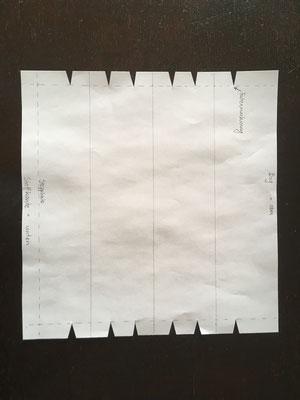 01 Schablone mit Faltenmarkierung