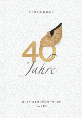 Flyer 40 Jahre Goldhaubengruppe Saxen Seite 1