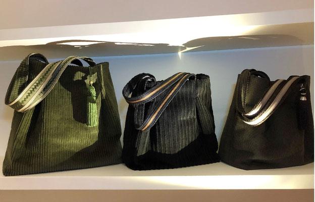 leichte Variation in den Größen bei der Taschensammlung