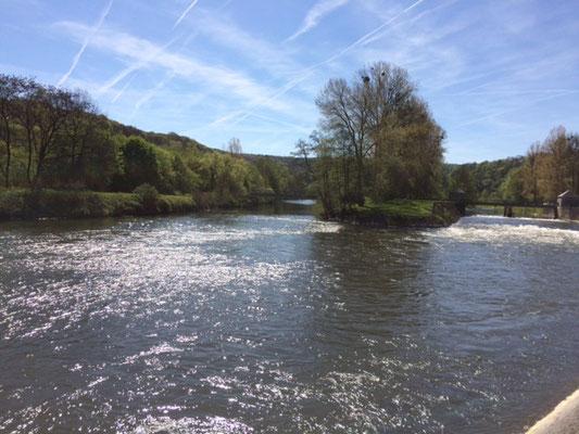 La très belle vallée de l'Ourthe, affluent de la Meuse
