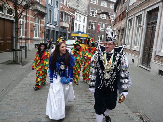 Jeugdprinses Birgit I en prins Danny I van De Beekmennekes