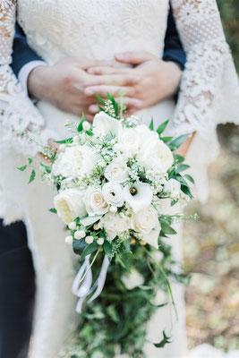 Bouquet de la mariée blanc