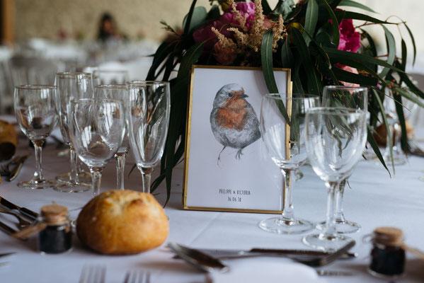 Décoration florale de table mariage