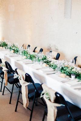 Décoration végétale tables mariage