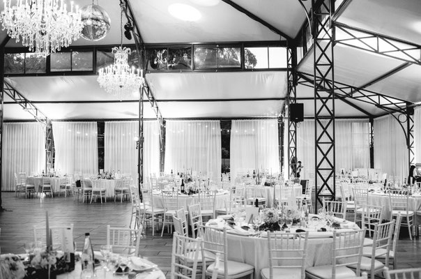 Salle dîner mariage château