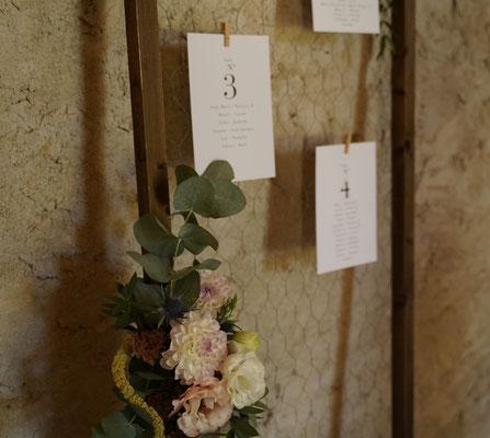 Décoration florale plan de table vintage mariage