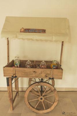 Candy-bar mariage thème voyage et exotisme