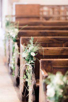 Décoration florale église mariage