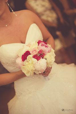 Bouquet de la mariée rond