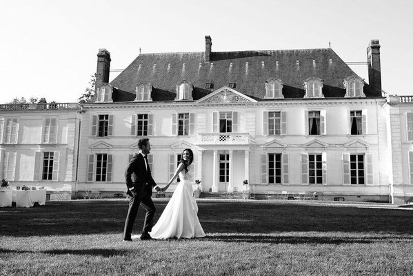 Séance photo de couple en extérieur mariage château