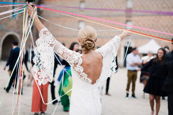 Lancer de bouquet original mariage