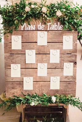 Plan de table végétal mariage