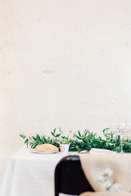 Décoration de table végétale mariage