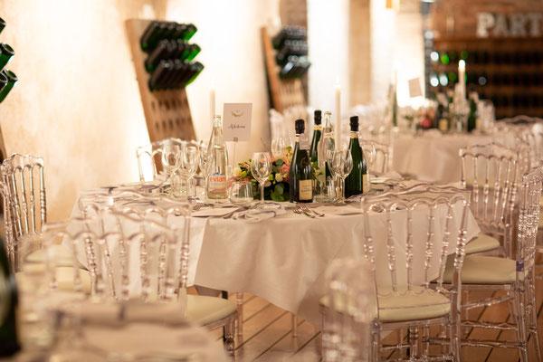 Décoration table mariage en Champagne