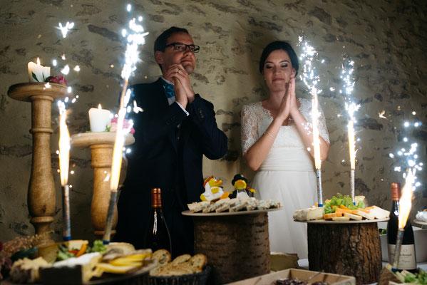 Buffet de desserts original mariage : plateaux de fromages