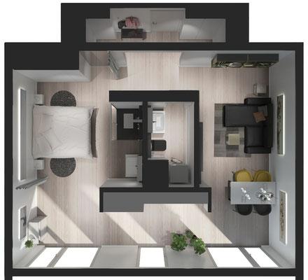Architektur Visualisierung