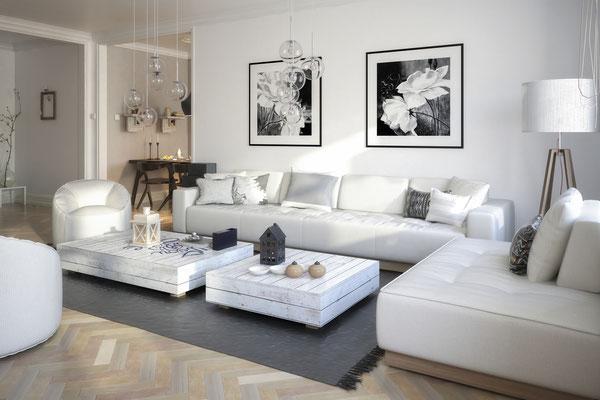 Visualisierung Wohnzimmer